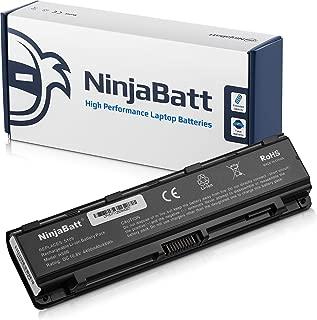 NinjaBatt Laptop Battery for Toshiba PA5109-1BRS Satellite C50 C55 PA5110U-1BRS PA5108U-1BRS PABAS272 PABAS271 PABAS273 - High Performance [6 Cells/4400mAh/48wh]
