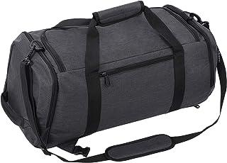 حقيبة رياضية من القماش الخشن مع مقصورة للأحذية، حقيبة سفر تحمل على حقيبة ظهر للرجال والنساء من هوكيمب
