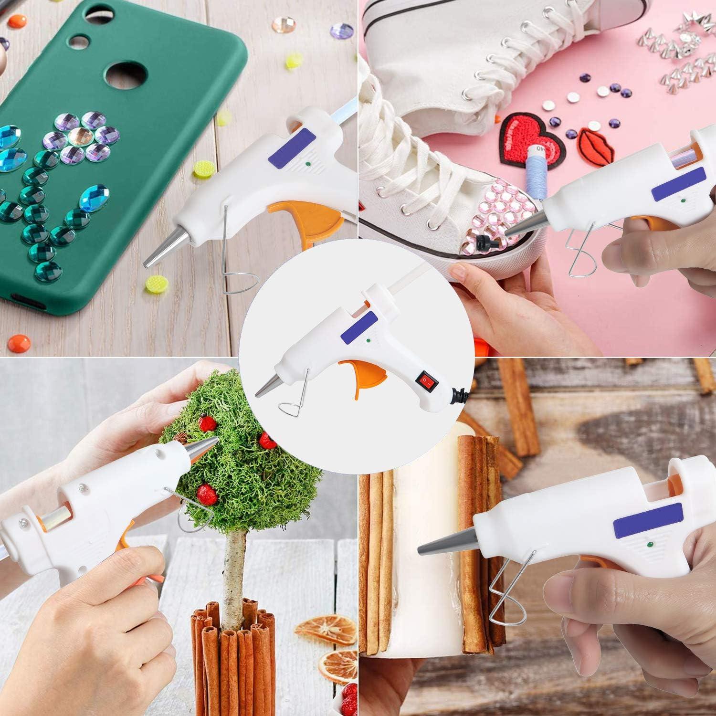 Hei/ßklebepistole Klebepistole 50 Hei/ßklebesticks Transparente Klebesticks Transparente Klebepistole Set f/ür DIY Kleine Handwerk und schnelle Reparaturen in Haus /& B/üro Wei/ß