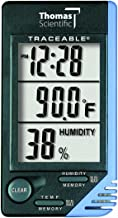 Thomas Traceable Thermometer/Clock, +/- 1 degree C Accuracy