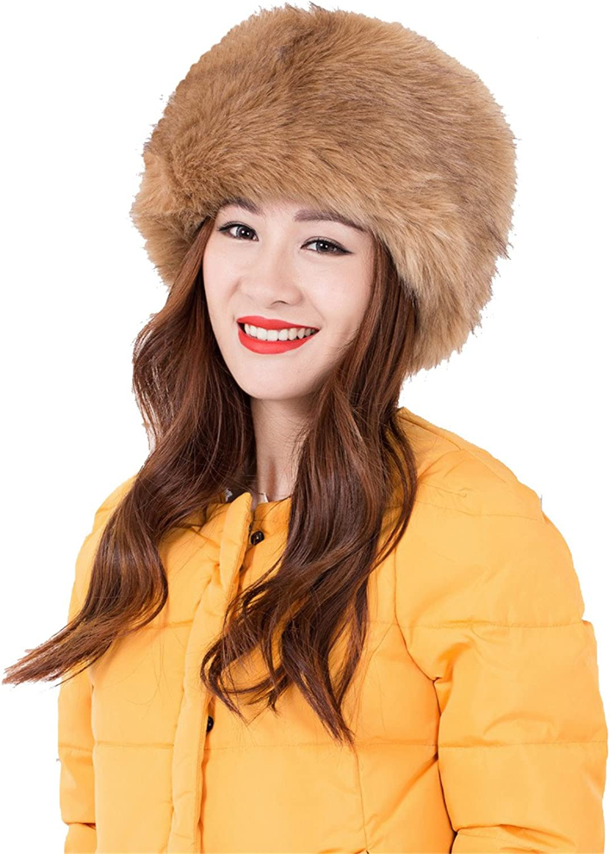 Wonderful lifetime Women Ladies Winter Hat Faux Fur Cossak Russian Style Hat