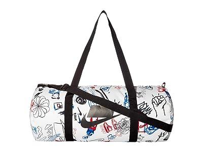 Nike Heritage Duffel Graphics (White/Black/Black) Duffel Bags