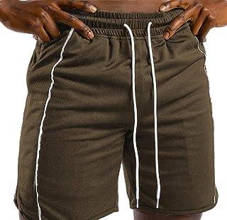 UUYUK Men's Outdoor Gym Workout Running Elastic Waist Skinny Fit Shorts