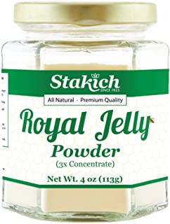 Sponsored Ad - Stakich Royal Jelly Powder - 4 Ounce - 3X Concentrate - Freeze Dried, Pure, Natural