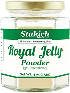 Stakich Royal Jelly Powder - 4 Ounce - 3X Concentrate - Freeze Dried, Pure, Natural