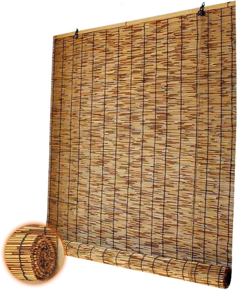 Glopo Reed Blinds for Home Outdoor Roll Indoor Don't miss the campaign A surprise price is realized Up Shades Bamboo