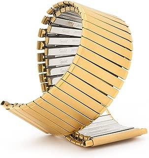 Speidel Men's Twist-O-Flex Expansion Band Wide Gold Tone Straight End 24-30mm