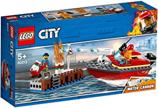 LEGO City Fire Dock Side Fire for age 5+ years old 60213