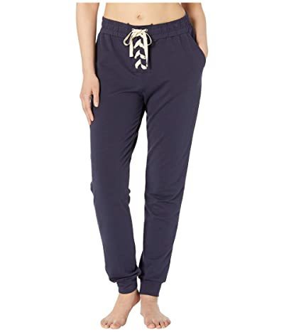 Eberjey Mason The Lace-Up Pants (Indigo Sea) Women