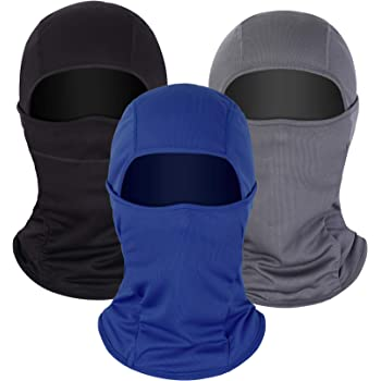 3 Pieces Summer Balaclava Sun Protection Face Mask Breathable Long Neck Cover for Men Usage