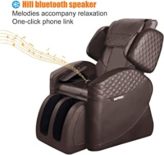 OOTORI Massage Chairs & Recliner Faux Leather Full Body,Zero Gravity Remote Control,Heat & Vibration Modes Music (Brown)
