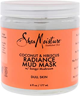 Shea Moisture Coconut & Hibiscus Radiance Mud Mask - Dull Skin by Shea Moisture for Unisex - 6 oz Mask, 177 ml