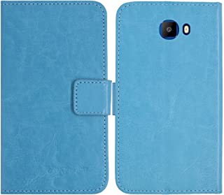TienJueShi Blue Book-Style Flip Leather Protector Case Cover Skin Etui Wallet for Elephone S8 6 inch