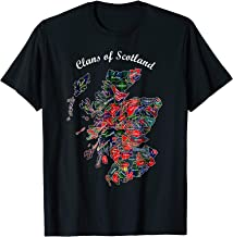 Clans of Scotland Map t-shirt