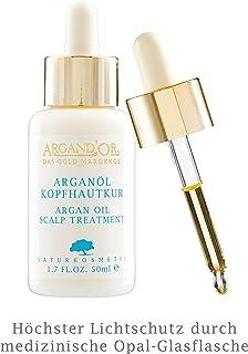 """ARGAND""""OR Bio Arganöl Kopfhautpflege 50ml Intensive Pflege für gereizte Kopfhaut Hilft bei Juckreiz Anti-Schuppenbildung Mit hygienischer Pipette Vegan"""