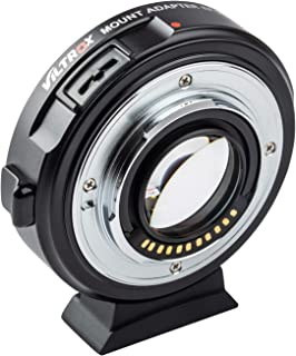 VILTROX EF-M2II Focal Reducer Booster Adapter Auto-Focus 0.71x for Canon EF Mount Series Lens to M43 Camera GH4 GH5 GF6 GF...