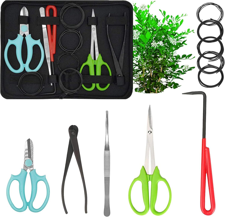 MOFOPAKOO Bonsai Tree Tools Kit Be super welcome Gardening 11 Trimming Pcs Fort Worth Mall