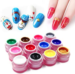 12 Colors Nail Painting Gel Polish, Saviland Soak Off UV LED Sculpture Gel DIY Varnish Manicure Nail Art Decoration 8g