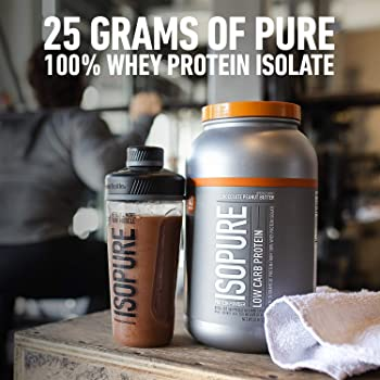 Isopure Zero Carb, Vitamin C and Zinc for Immune Support, 25g Protein, Keto Friendly Protein Powder, 100% Whey Protei...