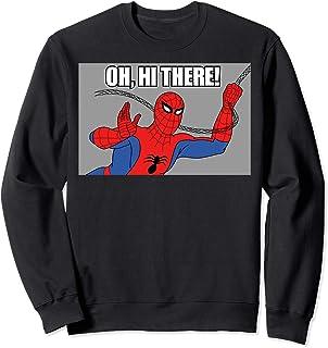 Marvel Spider-Man Swinging Oh, Hi There! Vintage Portrait Sweatshirt