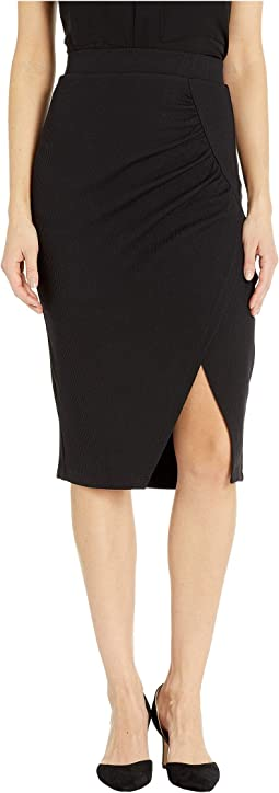 Slit Knit Knee Skirt