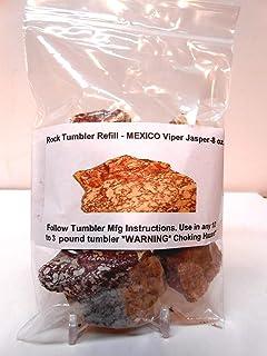 Rockhound's 1st Choice Rock Tumbler Gem Refill Kit -Mexico Viper Jasper Rough- 240ml