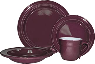 Emile Henry 16-Piece Dinnerware Set, Service for 4, Figue