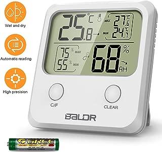 WisFox Termómetro Higrómetro Digital, Higrómetro Digital