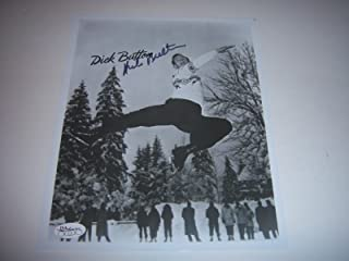 Dick Button Olympic Figure Skater Gold Medal holo Signed 8x10 Photo - JSA Certified - Autographed Olympic Photos