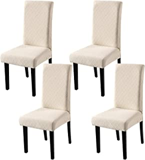 YISUN Dining Chair Covers, Stretch Removable Washable Dining Chair Protector Parsons Chair Slipcover for Hotel, Dining Roo...