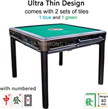 Ultra Thin 40mm Numbered Tiles Automatic 4 Legs Mahjong Table Dining Table with 1 Table Cover Easy Install in 30 Min - Chinese Philippine Style