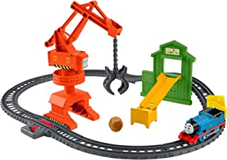 Thomas & Friends Cassia Crane & Cargo Set, motorized train and track set for preschoolers ages 3 years & older