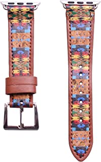 40mm/38mm Compatible for Apple Watch, Delicate Western Pattern Print Watch Band No. 22M5