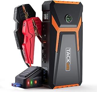 TACKLIFE T8 ARRANCADOR DE Coches de hasta 6500cc (Gasolina) y 5500cc (diésel) - 800A/18000mAh Arrancador de Batería de Coche con Pinzas Inteligentes, Pantalla LCD, USB de Carga Rápida, Luz LED