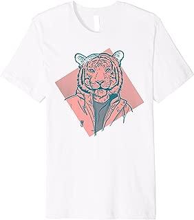 Tiger in Designer Jacket Unique Large Print T-Shirt
