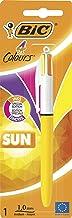 BIC 4 Colores Sun Retractable Bolígrafos retráctiles, punta media (1.0 mm), colores modernos, blíster de 1 unidad