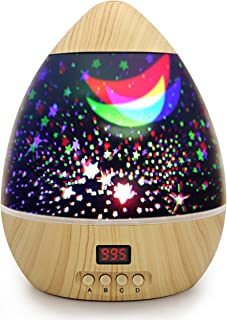 Kids Star Projector Night Lights Multiple Colors 360 Degree Rotating Led Starry Sky Night Lamp with Timer Auto Shut Off for Nursery Decor Baby Children Bedroom