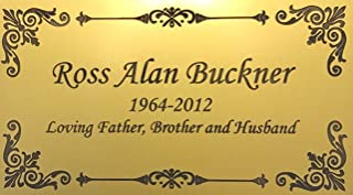 brass plaques and engraving
