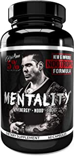 Sponsored Ad - Rich Piana 5% Nutrition Mentality Nootropic Blend | Brain Booster Supplement for Performance, Memory, Clari...