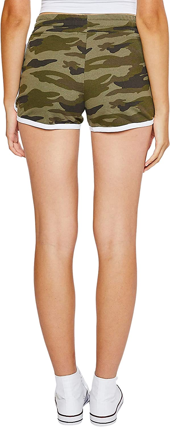esstive Womens Midweight Basic French Terry Camouflage Casual Comfortable Short