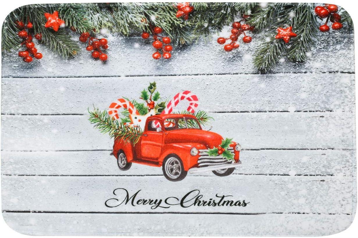 Merry Christmas free Bathroom Rug Mat Sales Soft 24''X16'' Absorben Super