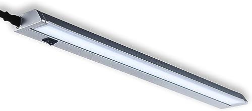 B.K.Licht réglette LED orientable, platine LED 8,5W intégrée, 1000Lm, blanche neutre 4000K, éclairage dressing placar...
