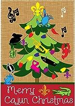 Magnolia Garden Merry Cajun Christmas Burlap Louisiana-Inspired Tree 30 x 44 Large House Flag