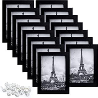 upsimples 5x7 Picture Frame Set of 15,Multi Photo Frames Collage for Wall or Tabletop Display,Black