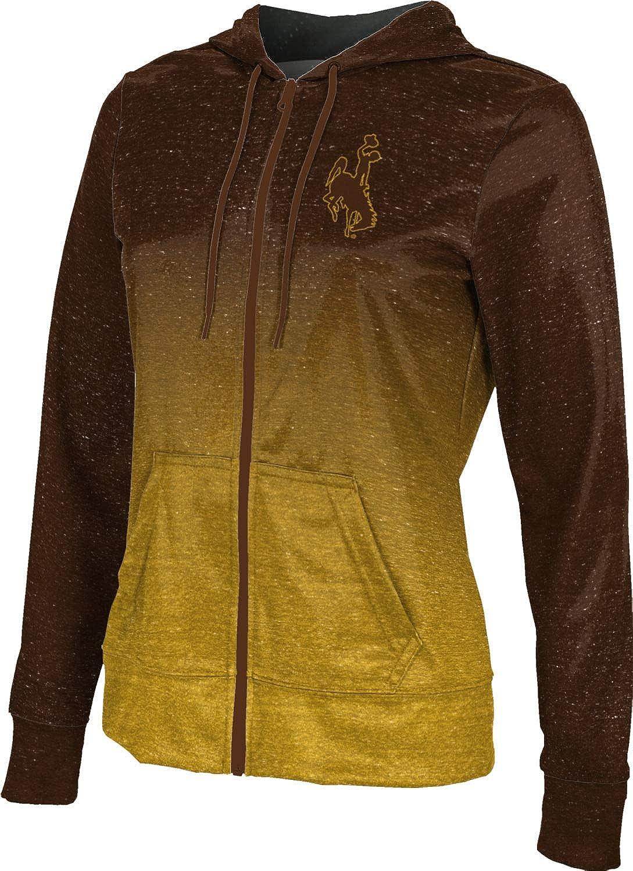 ProSphere University of Wyoming Girls' Zipper Hoodie, School Spirit Sweatshirt (Ombre)