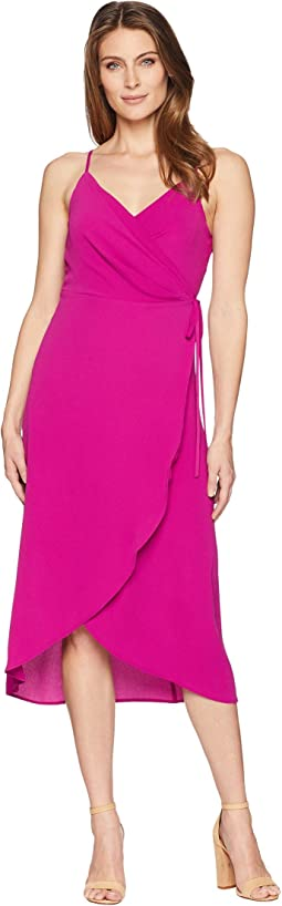 Sleeveless Soft Texture Wrap Dress
