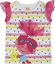 Sizes:3to7 Years Old Trolls Ruffle Sleeve T-Shirt,Sequin Design,Hair Chiffon