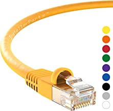 InstallerParts Ethernet Cable CAT5E Cable UTP Booted 200 FT - Yellow - Professional Series - 1Gigabit/Sec Network/Internet Cable, 350MHZ