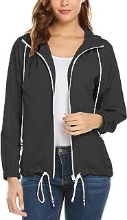 Outdoor Travel Striped Lined Warm Rain Jacket Women Waterproof Casual Raincoat