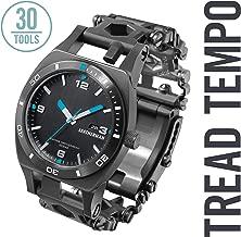 LEATHERMAN - Tread Tempo Watch, Customizable Multitool Timepiece, Black